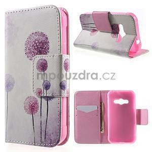 Vzorové peňaženkové puzdro pre Samsung Galaxy Xcover 3 - púpava - 1