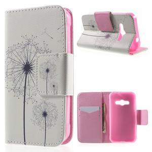 Vzorové peňaženkové puzdro na Samsung Galaxy Xcover 3 - odkvitnutá púpava - 1