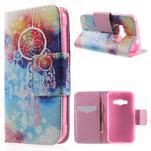 Vzorové peňaženkové puzdro na Samsung Galaxy Xcover 3 - snívanie - 1/7