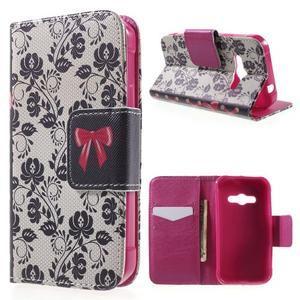 Vzorové peňaženkové puzdro na Samsung Galaxy Xcover 3 - mašlička - 1