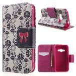 Vzorové peňaženkové puzdro na Samsung Galaxy Xcover 3 - mašlička - 1/7