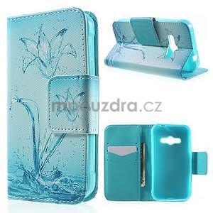 Vzorové peňaženkové puzdro pre Samsung Galaxy Xcover 3 - vodný kvet - 1