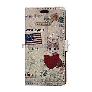 Peňaženkové púzdro na Samsung Galaxy Xcover 3 - mačiatko - 1