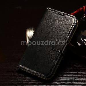 Koženkové peňaženkové puzdro pre Samsung Galaxy Xcover 3 - čierne - 1
