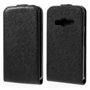 Flipové koženkové puzdro na Samsung Galaxy Xcover 3 - čierne - 1