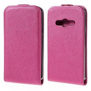 Flipové koženkové puzdro pre Samsung Galaxy Xcover 3 - ružové - 1