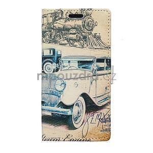 Peňaženkové púzdro pre Samsung Galaxy Xcover 3 - staré auto - 1