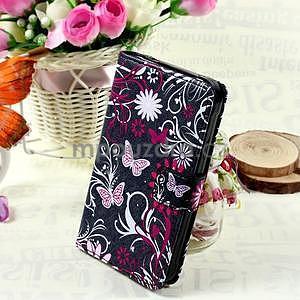 Štýlové peňaženkové puzdro pre Samsung Galaxy Xcover 3 - motýle - 1