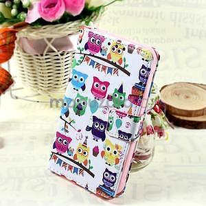 Štýlové peňaženkové puzdro pre Samsung Galaxy Xcover 3 - sovičky - 1
