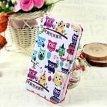 Štýlové peňaženkové puzdro pre Samsung Galaxy Xcover 3 - sovičky - 1/7
