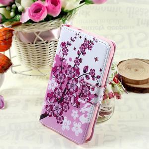 Štýlové peňaženkové puzdro pre Samsung Galaxy Xcover 3 - kvitnúca vetvička - 1