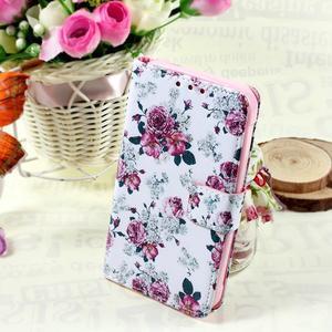 Štýlové peňaženkové puzdro pre Samsung Galaxy Xcover 3 - kvetinová koláž - 1