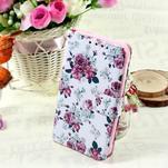 Štýlové peňaženkové puzdro pre Samsung Galaxy Xcover 3 - kvetinová koláž - 1/7