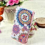 Štýlové peňaženkové puzdro pre Samsung Galaxy Xcover 3 - mandala - 1/7