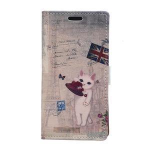 Peňaženkové púzdro na Samsung Galaxy Xcover 3 - mačička - 1