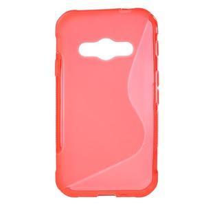 S-line gélový obal na Samsung Galaxy Xcover 3 - červený - 1