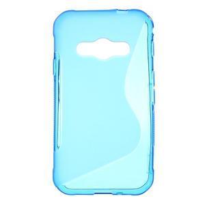 S-line gélový obal na Samsung Galaxy Xcover 3 - modrý - 1