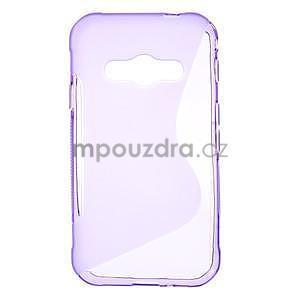 S-line gélový obal pre Samsung Galaxy Xcover 3 - fialový - 1
