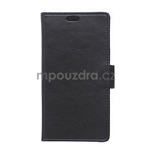 Čierne koženkové puzdro Samsung Galaxy Xcover 3 - 1