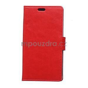 Červené koženkové puzdro Samsung Galaxy Xcover 3 - 1