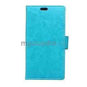 Modré koženkové puzdro Samsung Galaxy Xcover 3 - 1