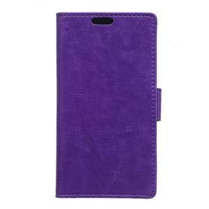 Fialové koženkové puzdro Samsung Galaxy Xcover 3 - 1