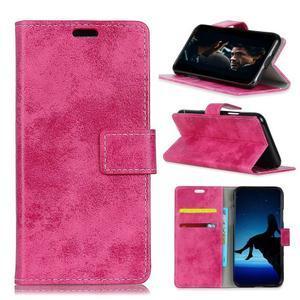 Retro PU kožené peňaženkové puzdro na mobil Nokia 2.1 - rose - 1