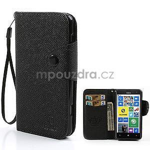 Peňaženkové puzdro s pútkom na Nokia Lumia 625 - čierne - 1