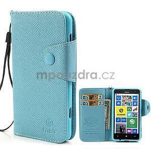 Peňaženkové puzdro s pútkom na Nokia Lumia 625 - svetlomodré - 1