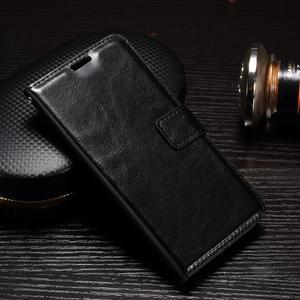Francis PU kožené puzdro pre Samsung Galaxy A3 (2017) - čierne - 1