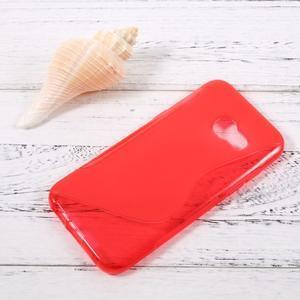 Sline gélový obal pre mobil Samsung Galaxy A3 (2017) - červený - 1