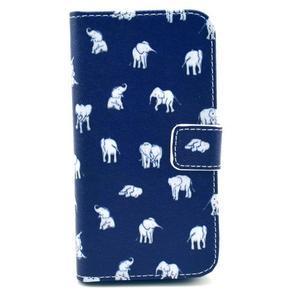 Pěněženkové pouzdro na Samsung Galxy S4 - sloni pro štěstí - 1