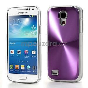 Metalický obal pre Samsung Galaxy S4 mini - fialový - 1
