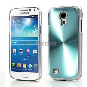Metalický obal na Samsung Galaxy S4 mini - tyrkysový - 1