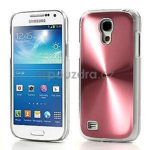 Metalický obal na Samsung Galaxy S4 mini - růžový - 1