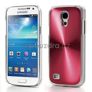 Metalický obal pre Samsung Galaxy S4 mini - červený - 1