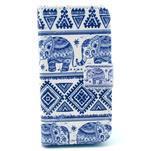 Peněženkové pouzdro na Samsung Galaxy S4 mini - sloni - 1/6
