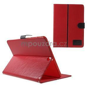 Flatense štýlové puzdro pre Samsung Galaxy Tab S2 9.7 - červené - 1