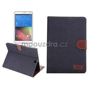 Jeans puzdro na tablet Samsung Galaxy Tab S2 9.7 - čiernomodré - 1