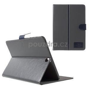 Flatense štýlové puzdro pre Samsung Galaxy Tab S2 9.7 - šedé - 1