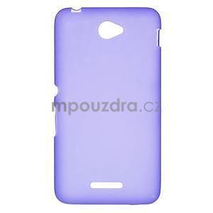 Gélový jednofarebný obal pre Sony Xperia E4 - fialový - 1
