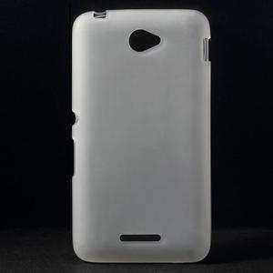 Gélový jednofarebný obal pre Sony Xperia E4 - transparentné - 1