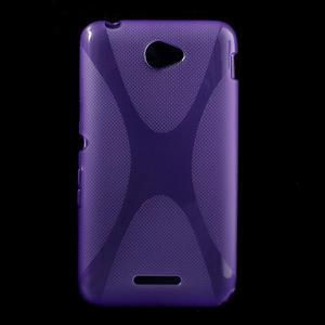Gelový x-line obal na Sony Xperia E4 - fialový - 1