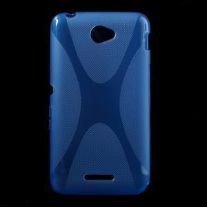Gélový x-line obal pre Sony Xperia E4 - modrý - 1