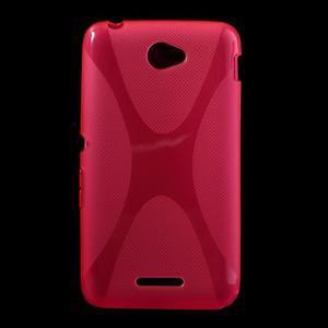Gelový x-line obal na Sony Xperia E4 - rose - 1