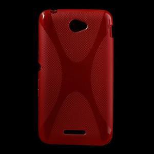 Gelový x-line obal na Sony Xperia E4 - červený - 1
