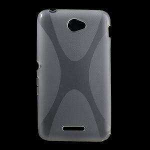 Gelový x-line obal na Sony Xperia E4 - transparentní - 1