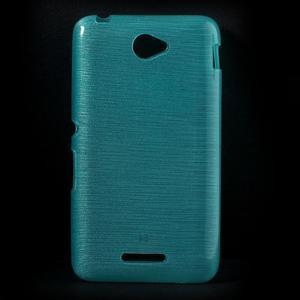 Brúsený gélový obal pre Sony Xperia E4 - tyrkysový - 1
