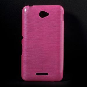 Brúsený gélový obal pre Sony Xperia E4 - rose - 1