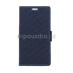 Vzorované peňaženkové puzdro pre Sony Xperia E4 - tmavomodré - 1